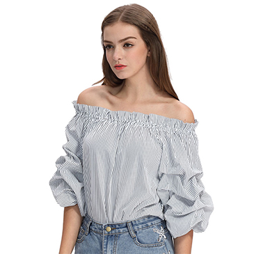2017 women off shoulder new summer cotton blouse designs