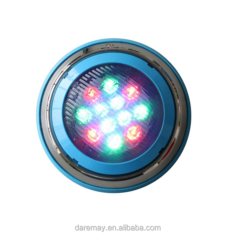 IP68 12v multi color swimming pool RGB LED underwater light