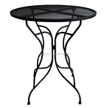 Metal Mesh Round Outdoor Garden Dining Table