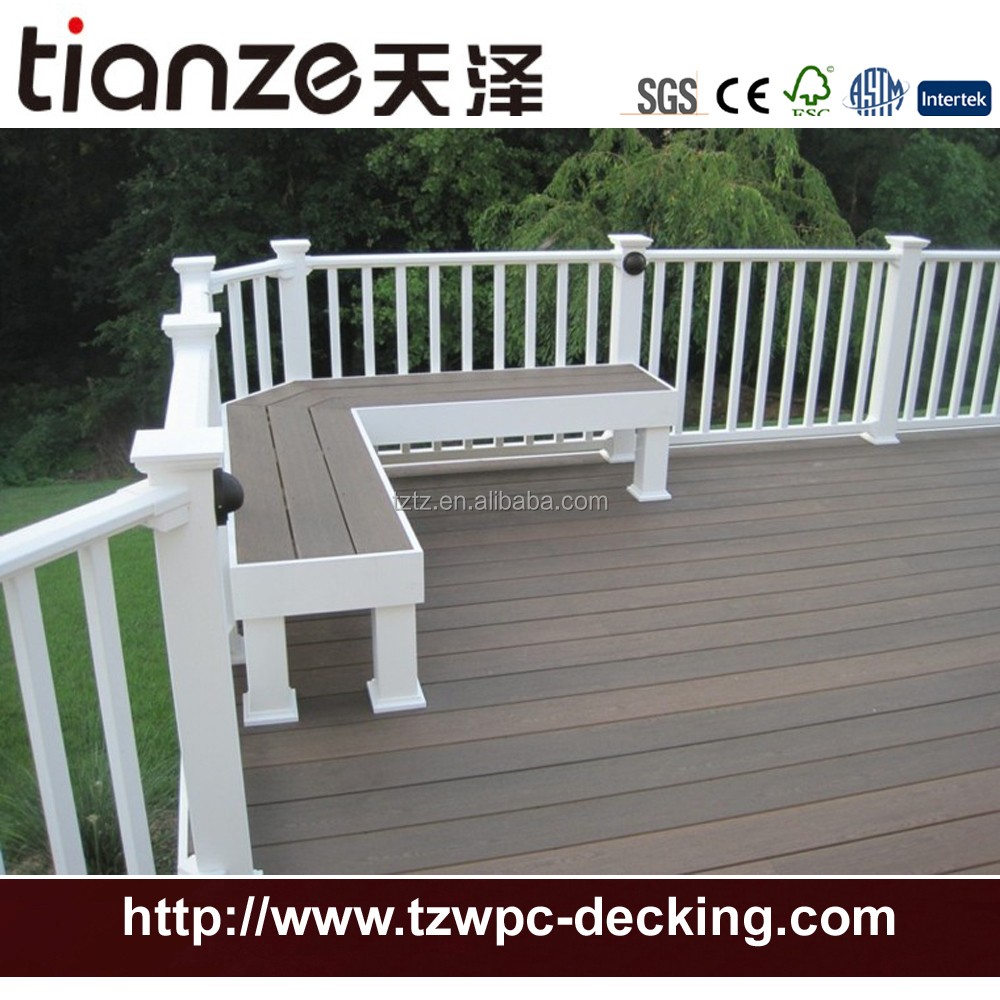 High Quality engineered wpc co-extrusion decking boards