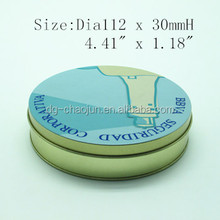 round favorable beautiful round tin can with ISO certified