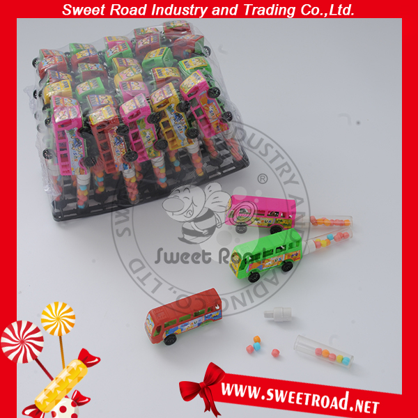 China Christmas Bus Toy Candy