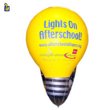 Giant inflatable light bulb model, inflatable advertising helium balloon K7075
