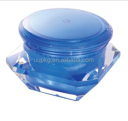 Cheap Price High quality UU Packaging 15g 30g 50g diamond acrylic jar
