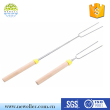 FDA Approved wholesale flexibale steel marshmallow roasting sticks set for promotion