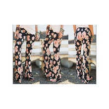 Wholesale High Quality and Super Soft Women Floral Printed Casual Bell Bottom Pants
