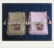 2015 lace design and ribbon embroidery mobile phone bags