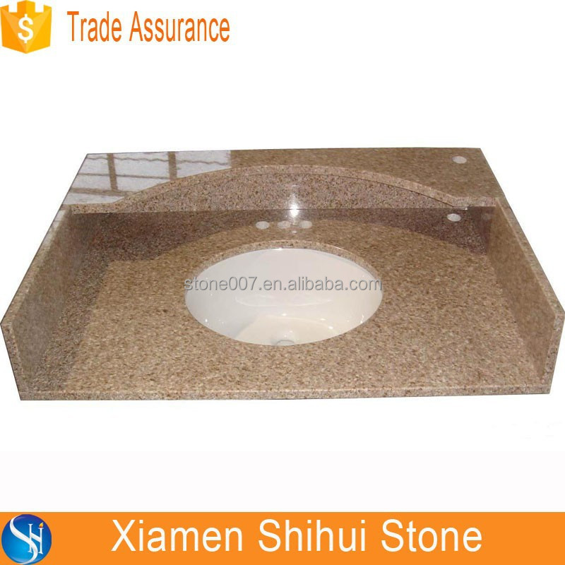 100% Rusty Color Natural Granite Chemical Resistant Countertop