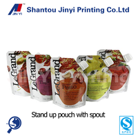 Customized Reusable Juice Drink Food Packaging Bag/fruit juice packaging bag