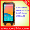 Dragon X301 4.5 inch waterproof and dustproof mobile phone with ip65 4200mAh big battery 1D 2D barcode scanner Android