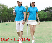 Custom logo print men T shirt uniform blue polo Tshirt golf shirt