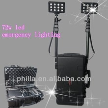 Portable ABS Case 72w led flood lighting fixture RLS-72W Remote Area Lighting Systems railway maintenance light