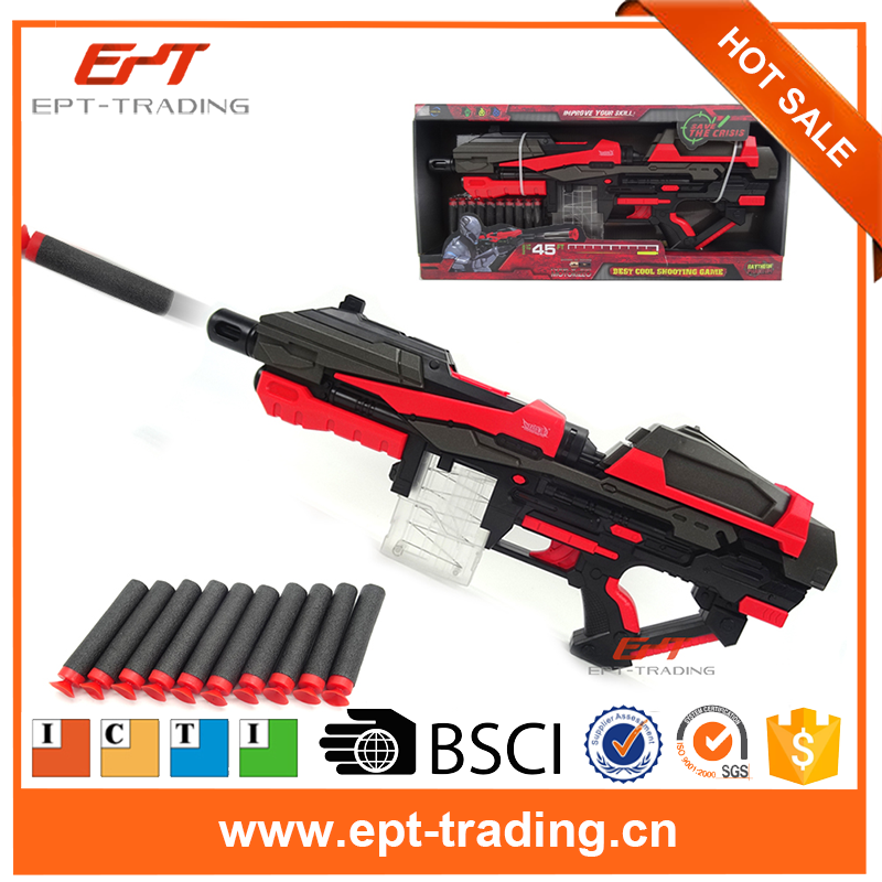 Hot selling electric airsoft toy gun with foam bullets