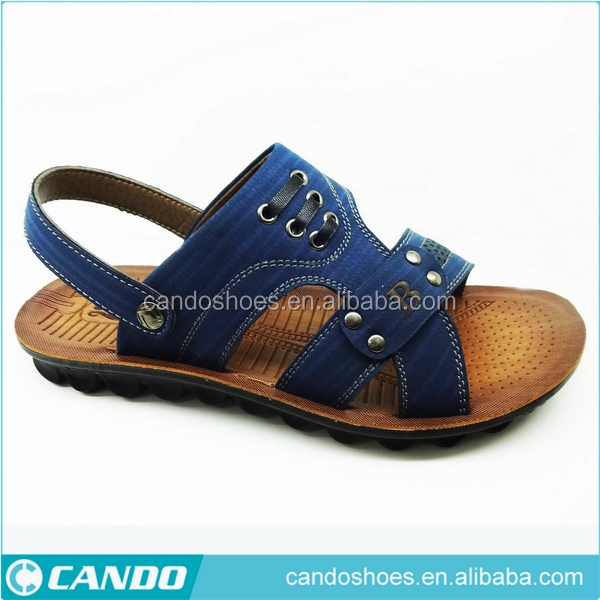 2016 Latest Design Standard Design PU Leather Covering Men Latest Design Slipper Sandal Casual For Male, Good Quality Man Slippe