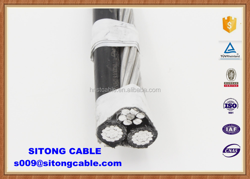 ALL AAC Conductor XLPE Insulated ABC Cable Triplex Purpura cable
