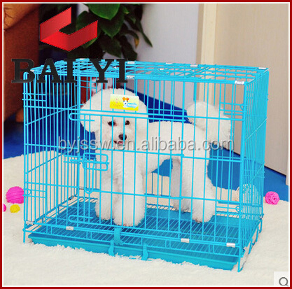 Hot Sale Foldable Wire Steel Pet Cage With Bottom Tray Made In China