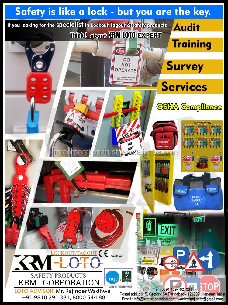 lockout tagout products -OSHA Compliance