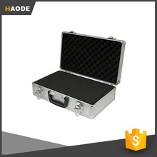 Hot Sale Fashion Silver Aluminum Hard Tool Case With Padding Foam