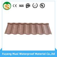 2016 Classic roof tile colorful stone coated metal roofing tile villa clay roofing tile