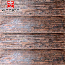 Natural wood color frost-resistant wood flooring for exterior wall use