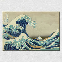 Printed famous wave oil painting