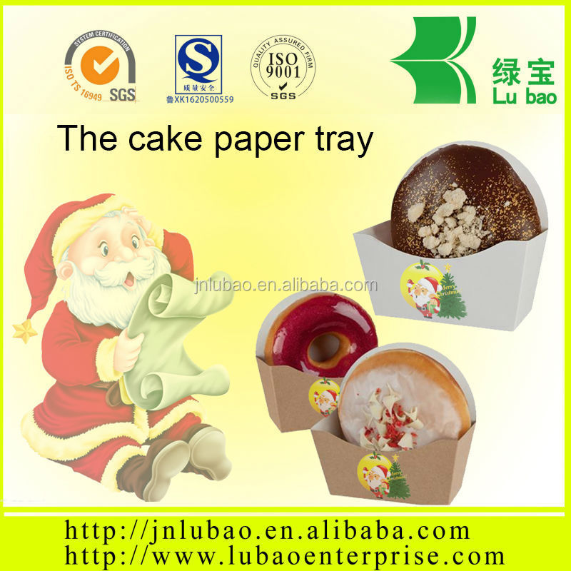 disposable paper food tray for cake and other dessert