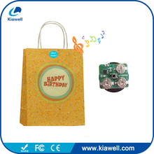 Cheap cute voice paper bag with logo print