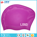 new design long hair silicone swim cap ear protection swim caps