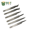 All Types Stainless Steel Tweezers with Curved/ Round/Straight Fine Point Tips