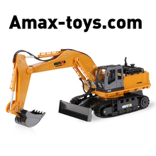 6931510-2.4GHz 11CH Alloy Engineering Electronic Excavator Heavy Machinery RC Toys Car Truck