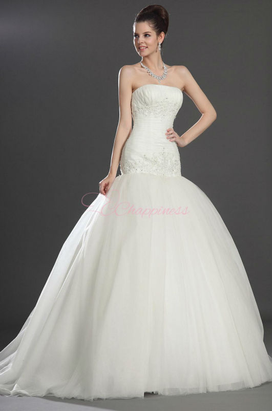 Tull puffy fashion 2013 wedding gowns