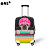 ONE2 design bath dog pattern sports polyester luggage cover