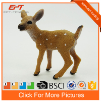 Realistic zoo animals plastic toy mini plastic deer toy for sale