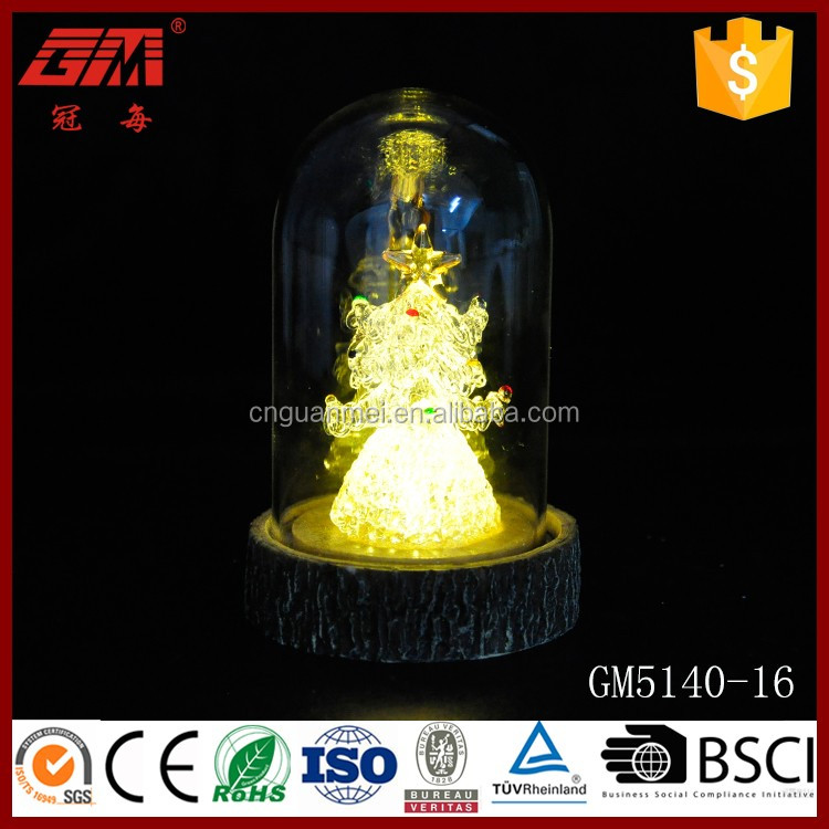 Wholesale lighted glass dome crafts with tree