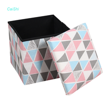 New Arrival Customizable Living room folding foot stool stackable make up storage ottoman