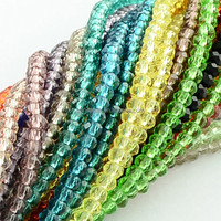 4x3mm Faceted Rondelle Crystal Glass Beads Strings Mixed Bead Landing Wholesale(GLAA-R029-4mm-M)