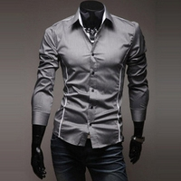 M50851M new fashion china manufacturer men's clothing cheap men's slim fit shirt
