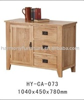 Rizhao Harnony solid oak 3 drawer 1 cabinet natural color wooden sideboard