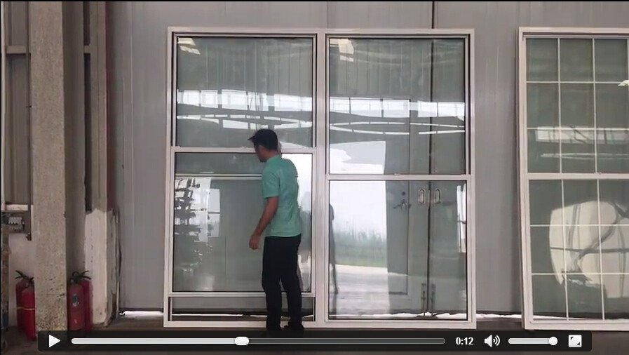Aluminum Glass Window Single And Double Hung window in China Supplier