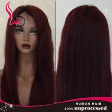 Wholesale Qingdao Hairpiece Factory Colorful Virgin Brazilian Human Hair White People Wigs Full Lace Wig Natural Hair Line