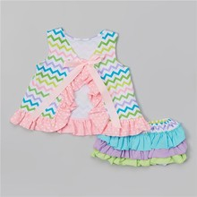 Wholesale High Quality Little Baby Chevron 2pcs Swimsuit