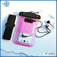 Wholesale new style with waterpoof earphones waterproof case for samsung galaxy note 3
