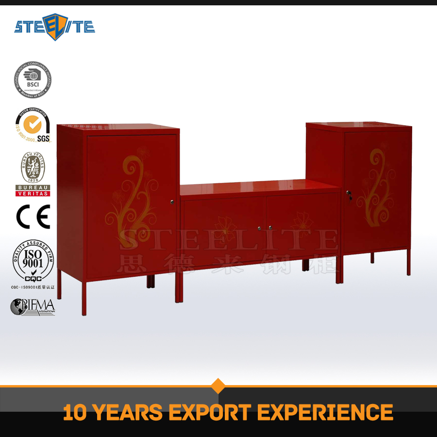 New design Home Furniture steel storage locker / Metal TV stands / wall mounted tv cabinets
