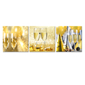 Champagne Drints Picture Canvas Prints Sparkling Wine Canvas Printing for Home and Office Decoration wholesale 3 Panels