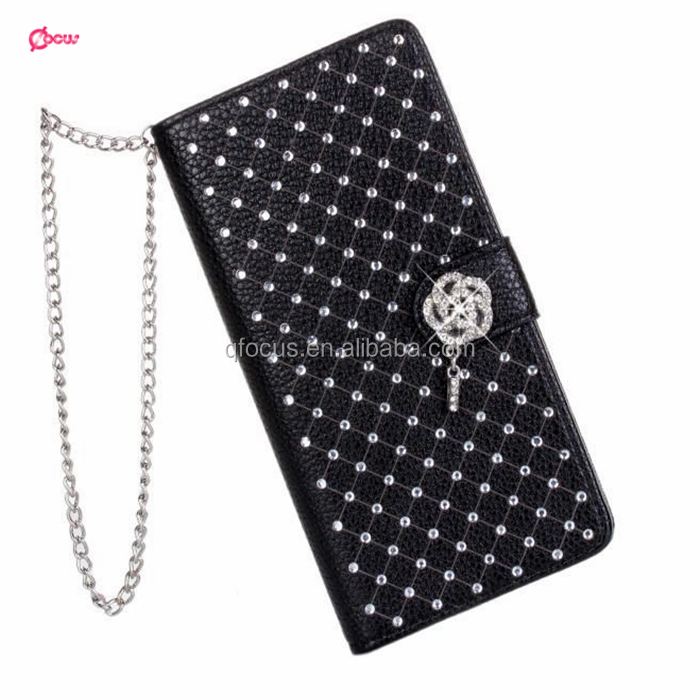 New For Apple iPhone 5 5S Magnetic Diamond Wallet PU Leather Flip Case Cover