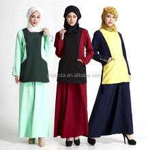 Z58788B Long Sleeve Dress New Fashion Two Pieces Dresses Islamic Clothing Wholesale Latest Abaya Designs