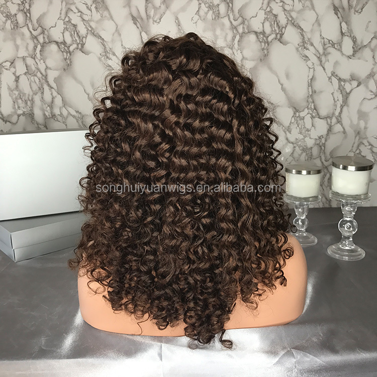 Pre Plucked Brazilian Human Hair Lace Wig Curly Full Lace Wigs With Baby Hair For Black Women No Tangle Wholesale Factory