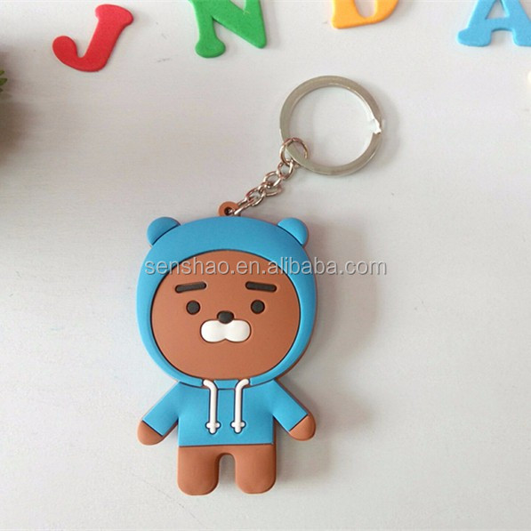 2017 New PVC Key Chain Ring KaKaoTalkFriends Micro Letter Expression Double-Sided Cartoon Key Chain Lovely