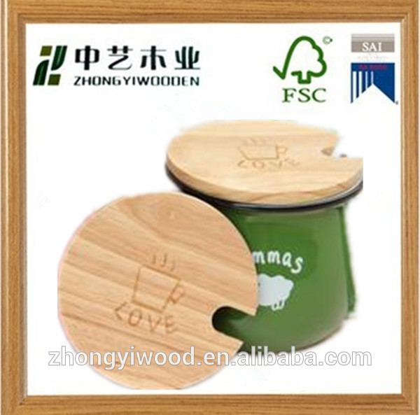 Trade assurance custom design high quality wooden coffee cup lid wholesale