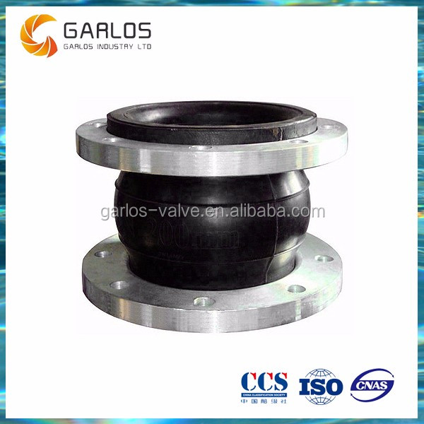 Stainless steel flange flexible rubber expansion joint